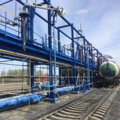 Монтаж ж/д эстакады слива-налива нефтепродуктов