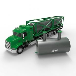 Емкость подземная стальная с подогревом ЕПП 20 кубов