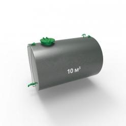 Резервуар (емкость) горизонтальный стальной двустенный РГД (РГСД) 10 кубов