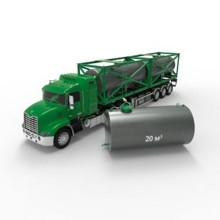 Резервуар (емкость) горизонтальный стальной двустенный РГД (РГСД) 20 кубов