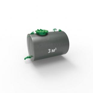 Резервуар (емкость) горизонтальный стальной двустенный РГД (РГСД) 3 куба