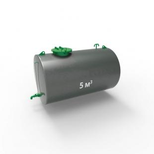 Резервуар (емкость) горизонтальный стальной двустенный РГД (РГСД) 5 кубов