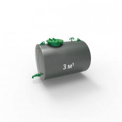 Резервуар (емкость) горизонтальный стальной РГС 3 куба