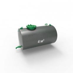 Резервуар (емкость) горизонтальный стальной РГС (РГСН) 4 куба