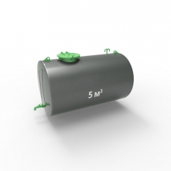 Резервуар (емкость) горизонтальный стальной подземный РГСП 5 кубов