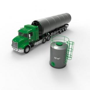 Резервуар (емкость) вертикальный стальной РВС 10 кубов