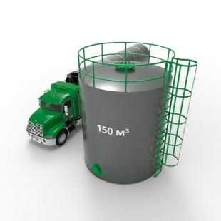 Резервуар (емкость) вертикальный стальной РВС 150 кубов