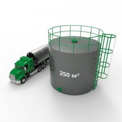 Резервуар (емкость) вертикальный стальной РВС 250 кубов