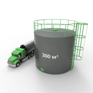 Резервуар (емкость) вертикальный стальной РВС 300 кубов