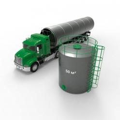 Резервуар (емкость) вертикальный стальной РВС 50 кубов