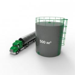 Резервуар (емкость) вертикальный стальной РВС 500 кубов