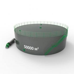 Резервуар (емкость) вертикальный стальной РВС 50000 кубов