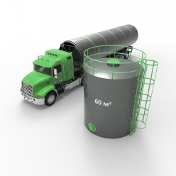 Резервуар (емкость) вертикальный стальной РВС 60 кубов