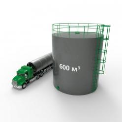 Резервуар (емкость) вертикальный стальной РВС 600 кубов
