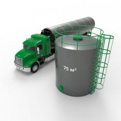 Резервуар (емкость) вертикальный стальной РВС 75 кубов