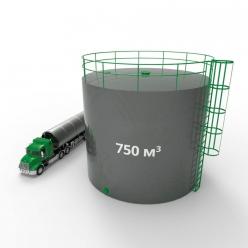 Резервуар (емкость) вертикальный стальной РВС 750 кубов