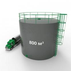 Резервуар (емкость) вертикальный стальной РВС 800 кубов