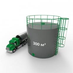 Резервуар (емкость) вертикальный стальной с понтоном РВСП 300 кубов