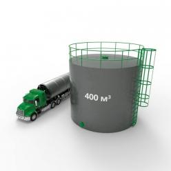 Резервуар (емкость) вертикальный стальной с понтоном РВСП 400 кубов