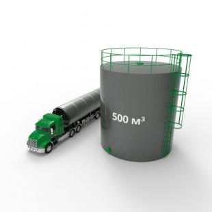 Резервуар (емкость) вертикальный стальной с понтоном РВСП 500 кубов
