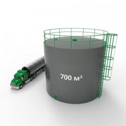 Резервуар (емкость) вертикальный стальной с понтоном РВСП 700 кубов