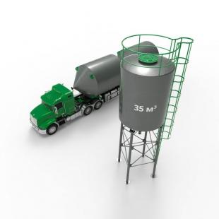 Металлический силос с конусным дном 35 м3 (46 тн)