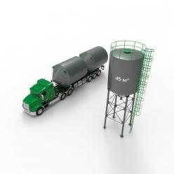 Металлический силос с конусным дном 45 м3 (59 тн)